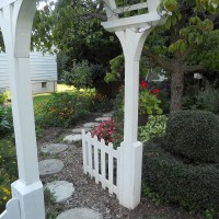 Photo Thumbnail #3: Looking through the arbor my husband made.