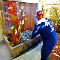 Photo Thumbnail #15: Installing the fountain