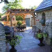 Photo Thumbnail #1: Side yard party patio