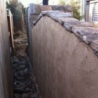 Photo Thumbnail #6: I used stucco on the back side to keep cost...