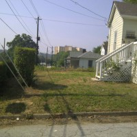 Photo Thumbnail #2: front yard on corner lot--side view from street