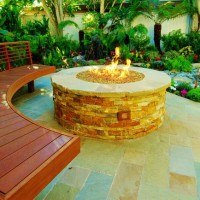 Photo Thumbnail #8: Firepit surrounded by custom bench
