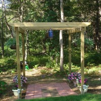Photo Thumbnail #1: Our pergola after my husband built it. We are...