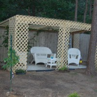 Photo Thumbnail #10: My husband built this trellis house.  We are...