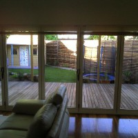 Photo Thumbnail #1: View of backyard from inside the house. 8 meter...