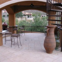 Photo Thumbnail #2: Sunken patio seating area for entertaining.