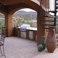 Photo Thumbnail #1: Upscale outdoor room with outdoor kitchen and...