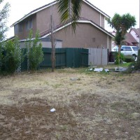 Photo Thumbnail #1: Our nasty side yard:  Hey, where's our fence?