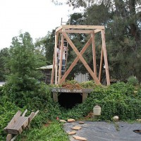 Photo Thumbnail #2: Next the water tower was built and the wistera...