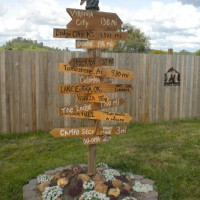 Photo Thumbnail #12: Directional western sign decor