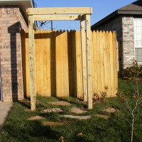 Photo Thumbnail #1: 11-3-2008. I started to build an arbor for my...