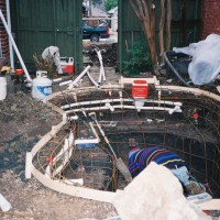 Photo Thumbnail #4: Framing the spa-ool and adding in the pipes