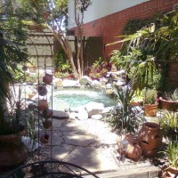 Photo Thumbnail #10: Looking from the patio to the spa-ool.