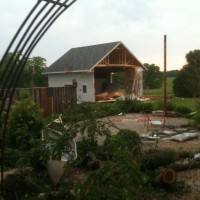 Photo Thumbnail #1: This is what our yard looked like minutes after...