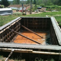 Photo Thumbnail #3: Our lap pool in progress.Richard poured a...