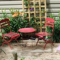 "Photo Thumbnail #12: A mini-patio table set at ""Turtle Beach""."