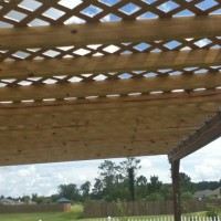 Photo Thumbnail #29: Another view of the Lattice roof of the Hammock...