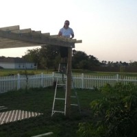 Photo Thumbnail #28: This is me adding the lattice roof to the...