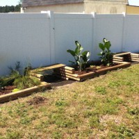 Photo Thumbnail #17: Decided to build some planters along my...