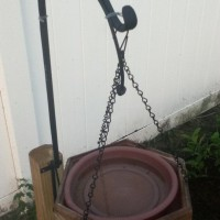 Photo Thumbnail #23: This is a water dish for the birds. I wired it...