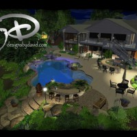 Photo Thumbnail #1: outside lighting, balcony, 3d swimming pool,...