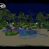 Photo Thumbnail #2: swimming pool, 3d pool, landscape