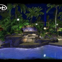 Photo Thumbnail #3: rock waterfall, pool waterfall