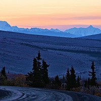 Photo Thumbnail #1: Daybreak entering Denali Park...13 degrees &...