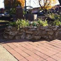 Photo Thumbnail #3: My first urbanite retaining wall/flowerbed.