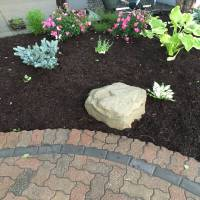 Photo Thumbnail #10: North side of patio landscaped.