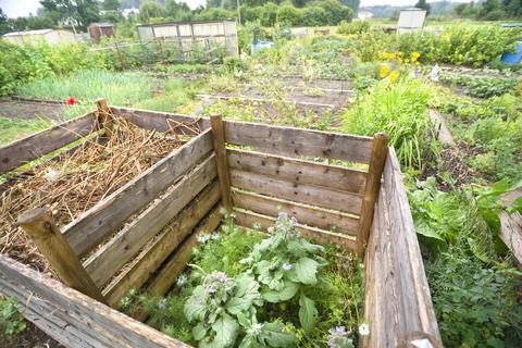 Wood Compost Storage