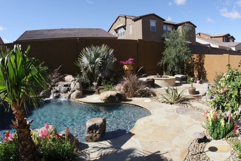 Southwestern Style Yard with Pool