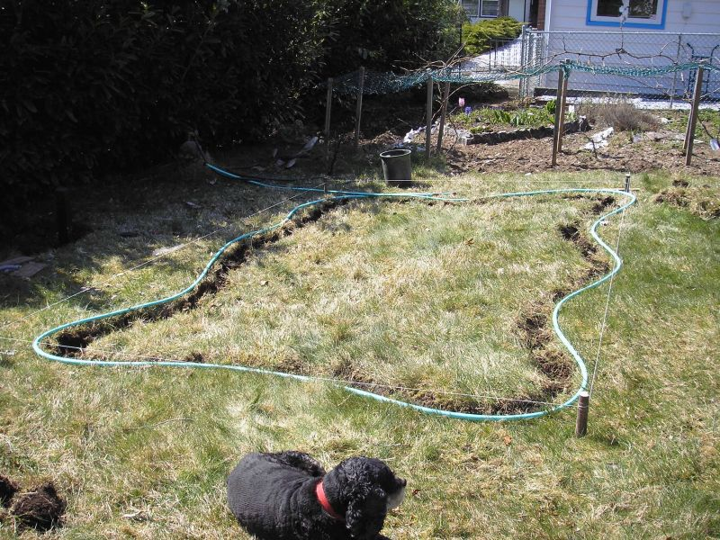 Garden Hose for Pond Outline