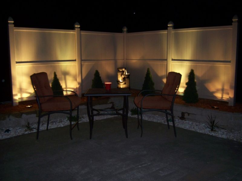 Patio Area Lighting at Night