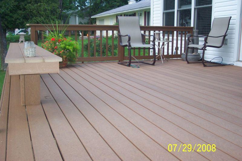Composite lumber deck