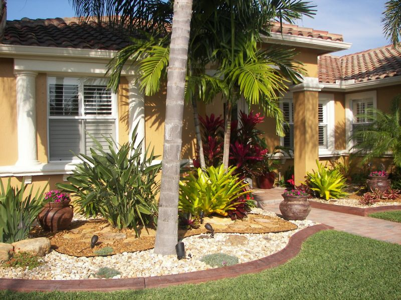 Lendro plan front yard landscaping ideas pictures florida Florida landscape design ideas
