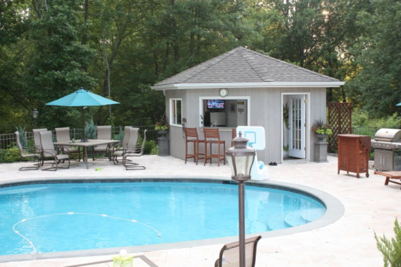 Pool House Plans With Bar. 16\u0027 X 18\u0027 Pool House With