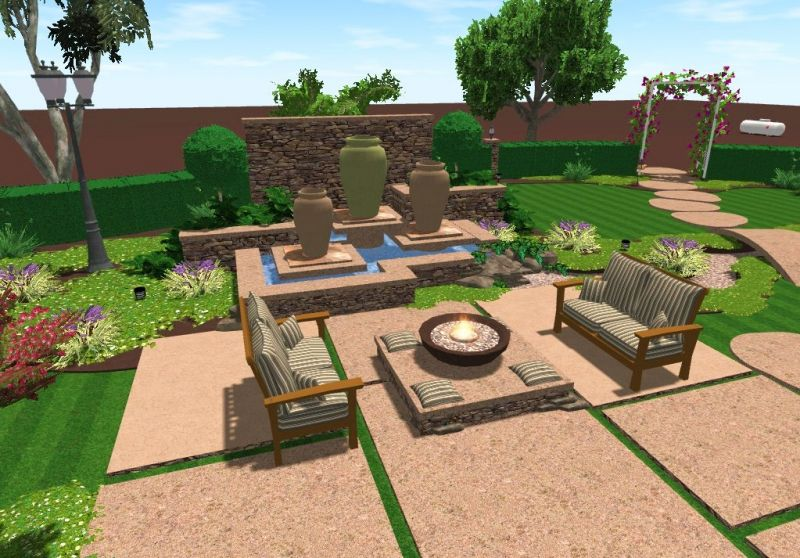 3D Landscape Design Patio Area