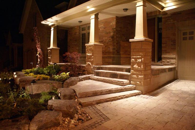 Front Yard Entry With Stone