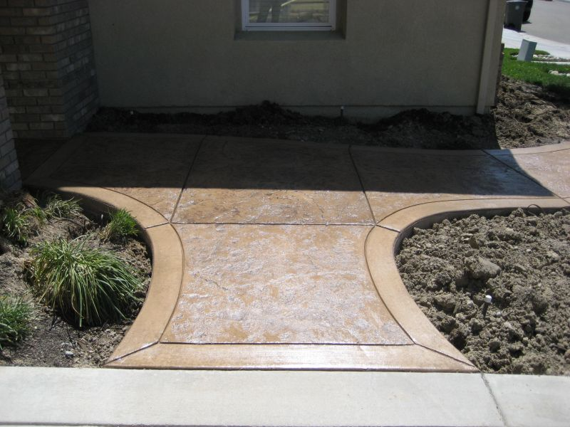 Stained and Stamped Concrete Together