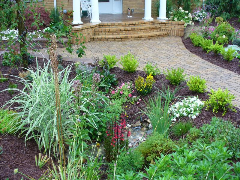 Permeable Pavers allow for draining rainwater