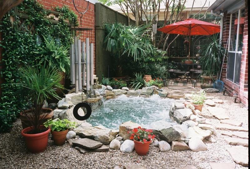 Turn a pond into a spa