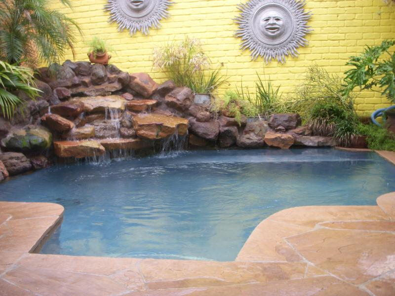 Pool incorporated into a small space