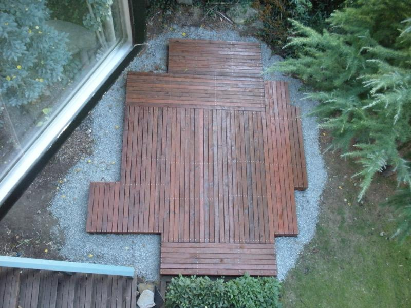Deckboards at different angles