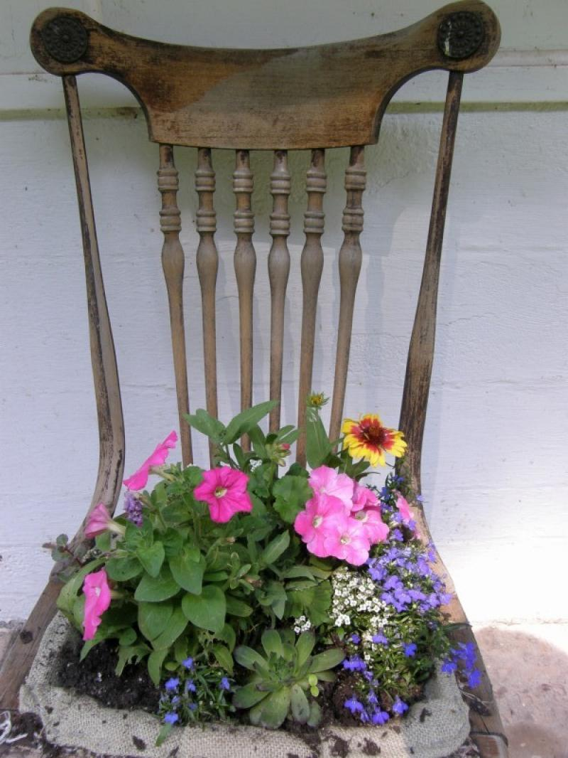 Chair Flower Planter