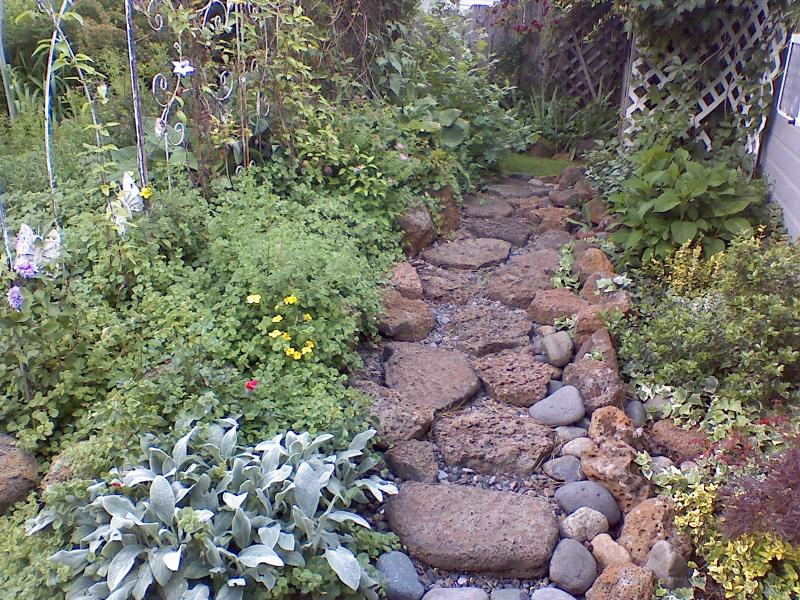 Stone walkway