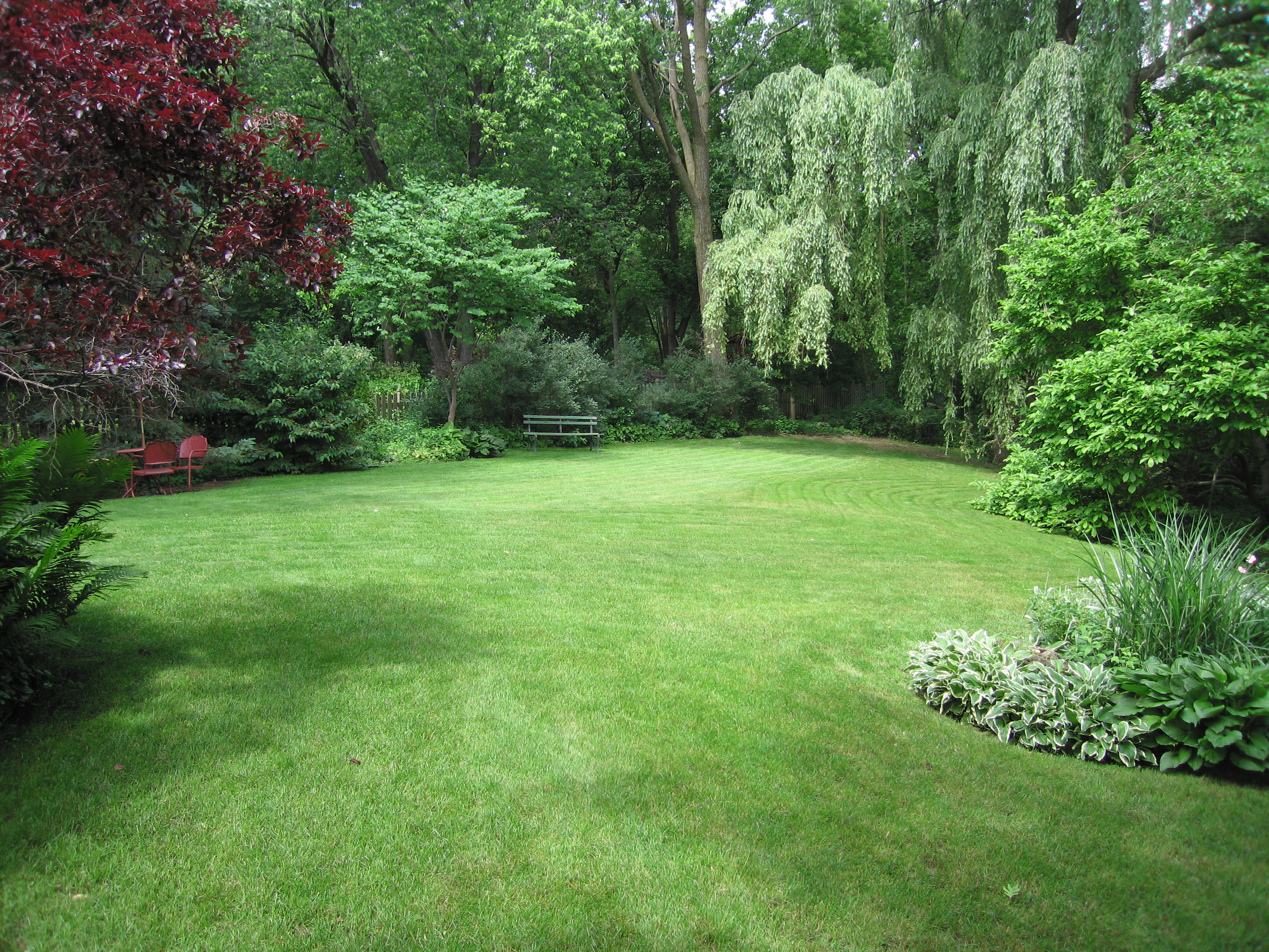 Very large 10 000 sq ft half acre landscaping ideas for Backyard garden