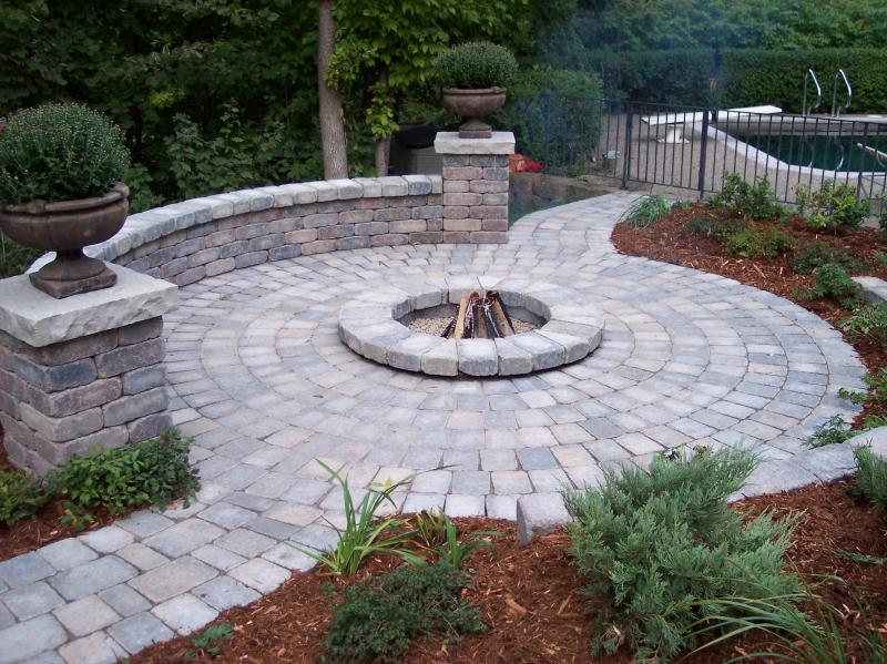 Yard Landscaping Pictures & Ideas: Orono Firepit Patio