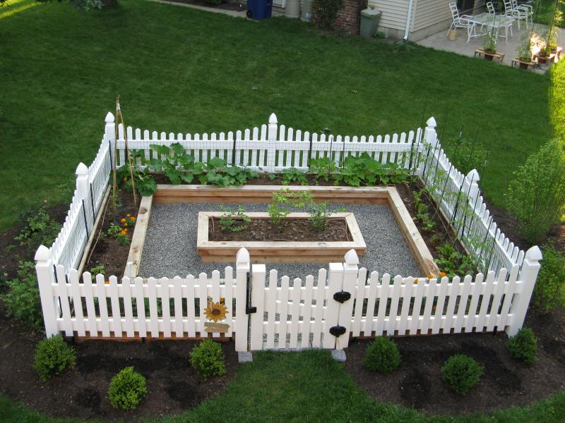 Yard Landscaping Pictures & Ideas: Cottage Style Vegetable Garden