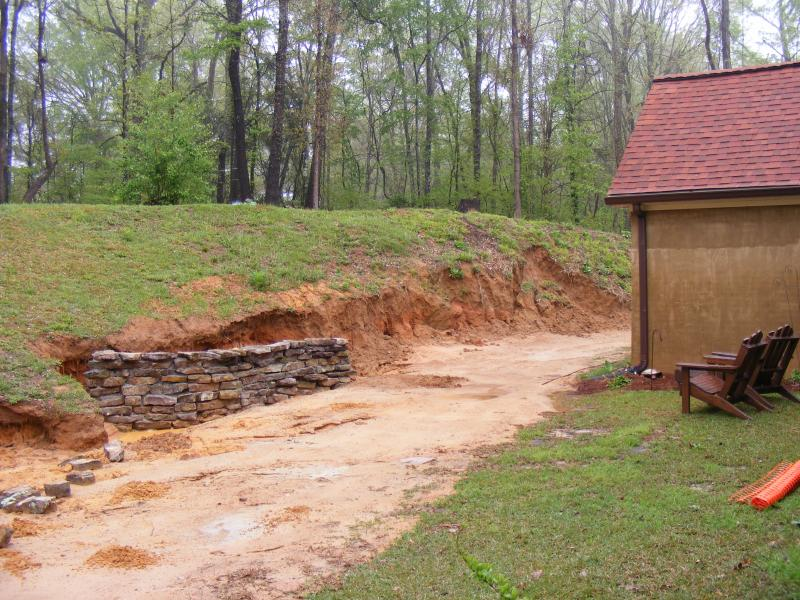 Building a Pond - Retaining Wall Construction